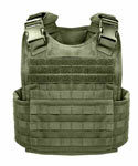 Olive Drab MOLLE Plate Carrier Tactical Vest