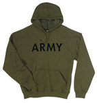 Olive Drab Pullover Army Hoodie