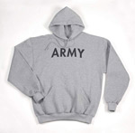 Grey Pullover Army Hoodie