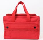 Mechanics Tool Bag with U Shaped Zipper - Red