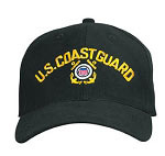 U.S. Coast Guard Black Baseball Hat