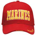 Red Marines Baseball Hat