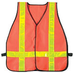Basic Issue High Visibility Orange Safety Vest