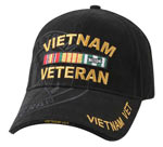 Deluxe Vietnam Veteran Black Shadow Logo Baseball Cap