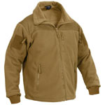 Special Ops Coyote Brown Military Fleece Jacket