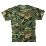 Woodland Camo Moisture Wicking T-Shirt