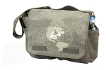 Vintage Olive Drab Big USMC Globe and Anchor Messenger Bag