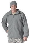 Foliage Green Polar Fleece Jacket with Liner