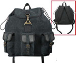 Vintage Black Canvas Wayfarer Backpack
