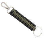 Olive Drab and Black Paracord Keychain