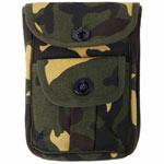 Camouflage Canvas 2-Pocket Ammo Pouch