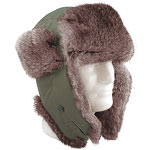 Olive Drab Fur Flyer Bomber Hat