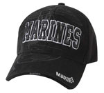 Deluxe Marines Black Shadow Globe and Anchor Baseball Cap