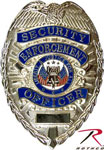 Deluxe Silver Security Badge