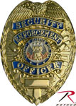 Deluxe Gold Security Badge