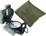 Phosphorescent Lensatic Military Compass