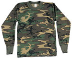 Kids Camouflage Long Sleeve T-shirts