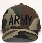 Woodland Camo Army Baseball Hat