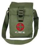 Olive Drab Large Military First Aid Kit