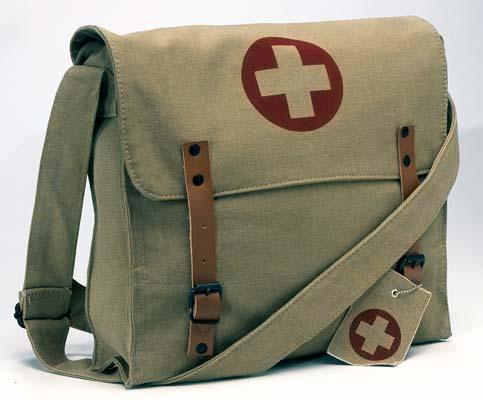 vintage army medic messenger bag shoulder bag