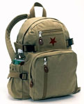 Deluxe Vintage Brown Star Backpack - Khaki
