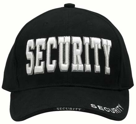 Security Uniform Black Baseball Hat Security Hats