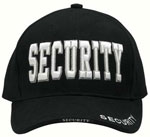 Black Security Baseball Hat