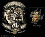 Black Ink USMC Bulldog T-shirt