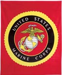 U.S. Marine Corps Military Insignia Fleece Blanket