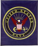 U.S. Navy Military Insignia Fleece Blanket