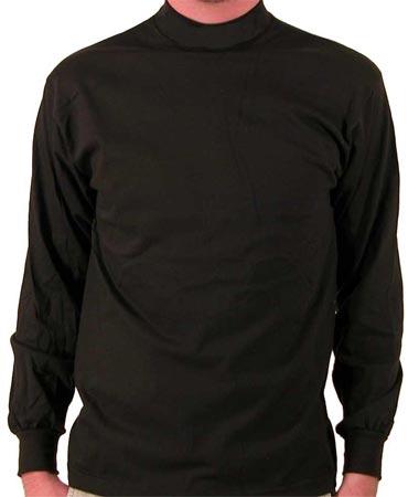 Black long sleeve mock turtleneck shirt for Long sleeve black turtleneck shirt