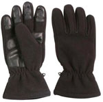Black Micro Fleece Winter Gloves