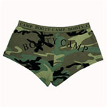 Womens Woodland Camouflage Booty Camp Underwear