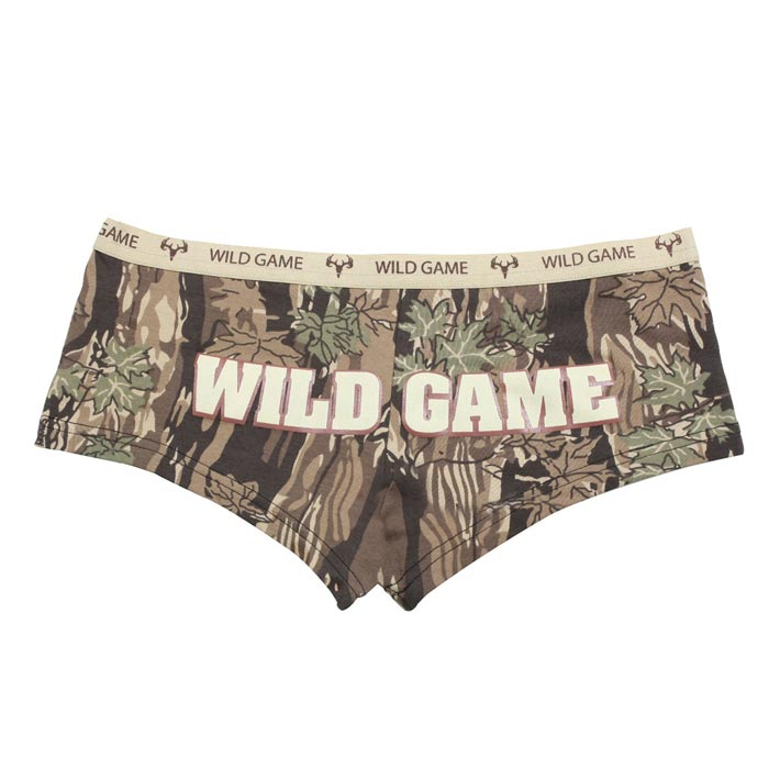 Ladies Wild Game Hunting Camo Booty Shorts | Womens Camo Underwear