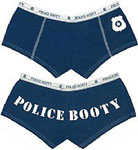 Womens Police Navy Blue Booty Short