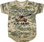 Infant Army Digital Camo 'Got your Back' One Piece Baby Onesie