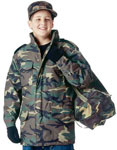 Kids Camo M-65 Lined Military Field Jacket