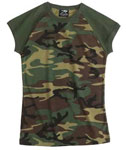 Womens 2-Tone Woodland Camo Shirt