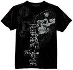 Vintage Black US Army Skull and Beret T-shirt