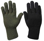 Military Black Wool Glove Liner