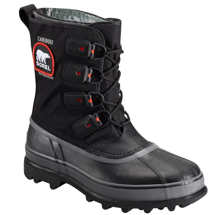sorel caribou xt mens black insulated winter boots