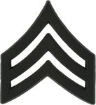 Black Metal Rank Sergeant E-5 Army Insignia