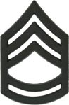 Black Metal Rank Sergeant 1st Class E-7 Army Insignia