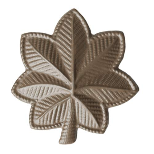 Subdued Metal Rank Major Army Insignia