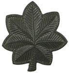 Black Metal Rank Major Army Insignia