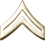 No-Shine Rank Corporal E-4 Army Insignia