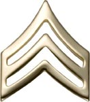 No-Shine Rank Sergeant E-5 Army Insignia