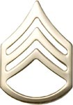 No-Shine Rank Staff Sergeant E-6 Army Insignia