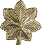 No Shine Rank, Major Army, Marine Corps Insignia