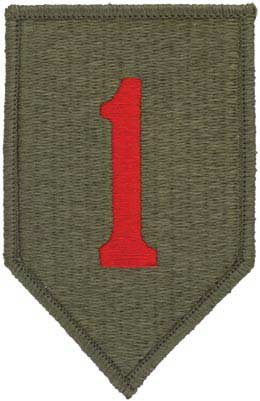 1st infantry division full color patch military patch insignia in detroit michigan us army - Div checker tool ...